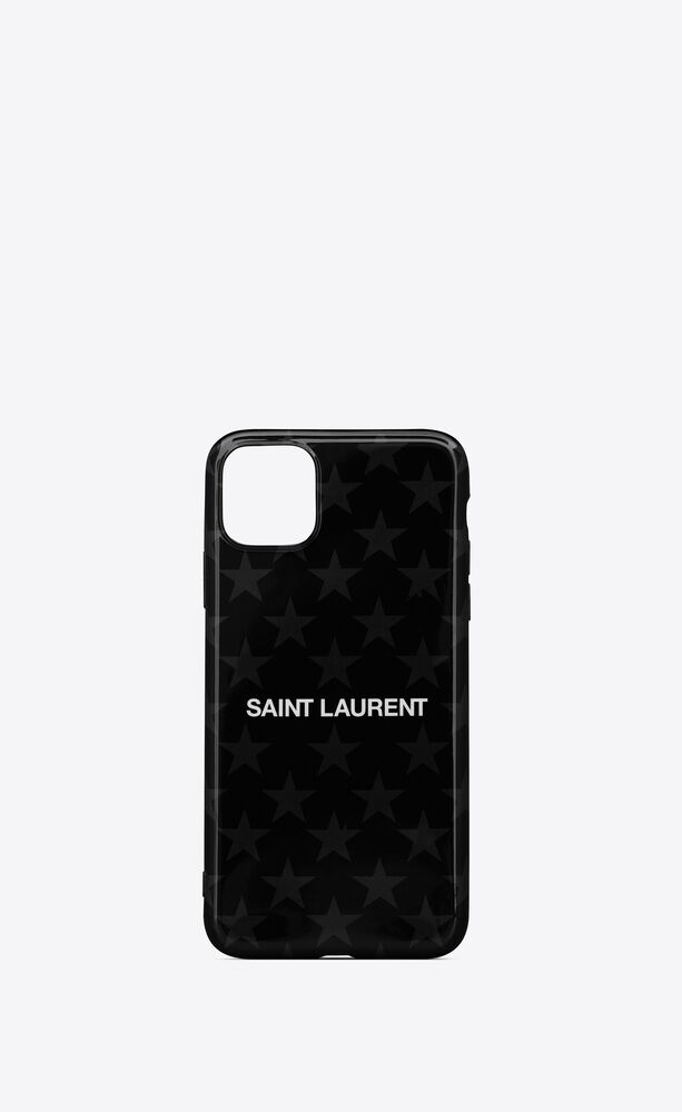 iphone 11 pro max case in saint laurent star printed silicone