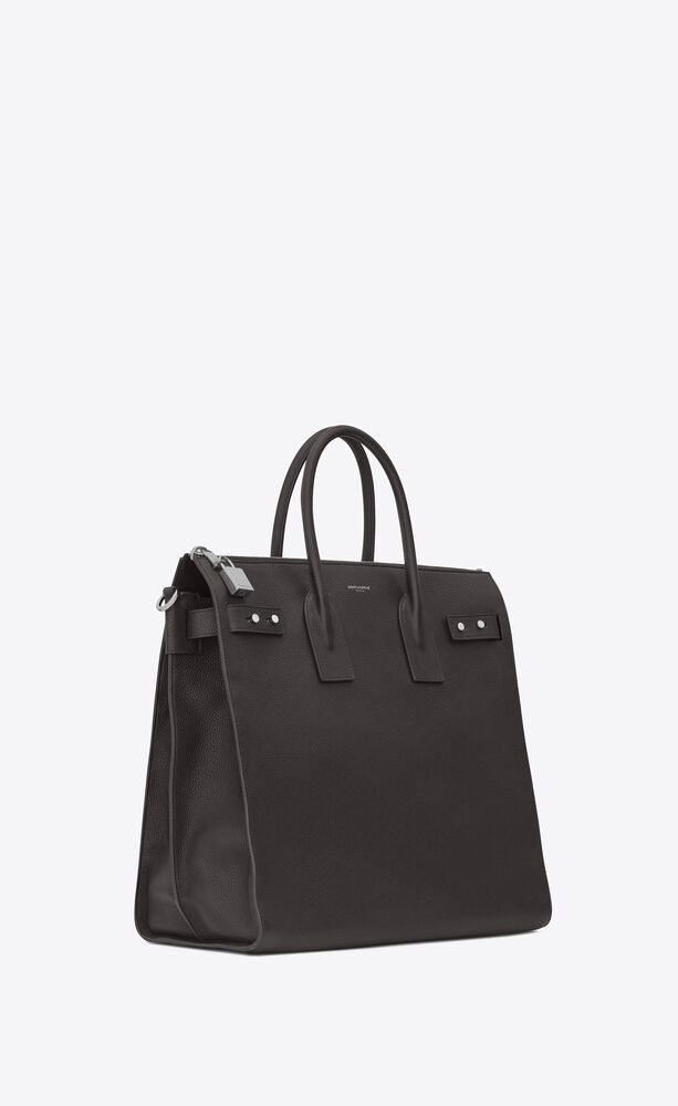 sac de jour north/south tote in grained leather