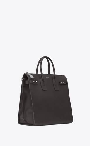 weicher north/south sac de jour shopper aus schwarzem narbenleder
