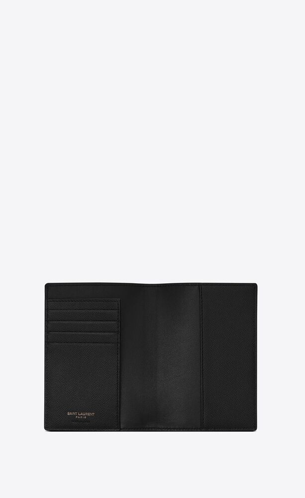 monogram passport case in grain de poudre embossed leather