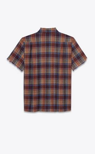 army shirt in wool check