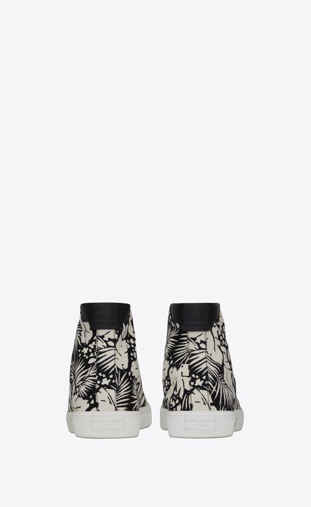 sneakers medie malibu in tela tropical e pelle