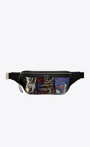 classic sac ceinture en toile jean-michel basquiat
