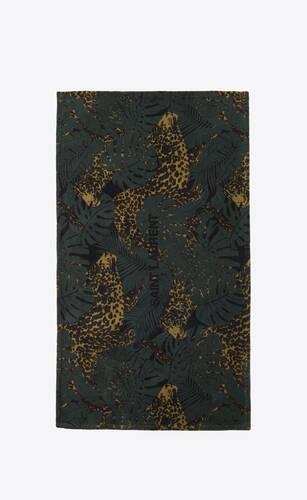 drap de bain léopard nocturne en éponge