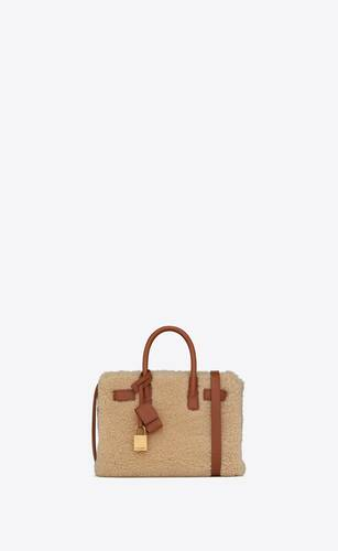 classic sac de jour nano in merino shearling and smooth leather