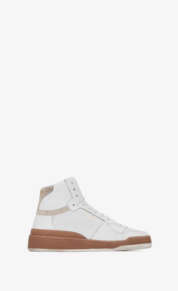 sl24 mid-top sneakers in leather and suede