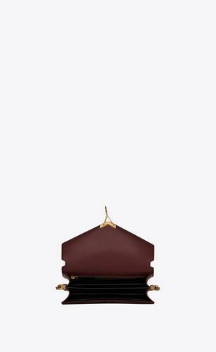 cassandra monogram clasp bag in smooth leather