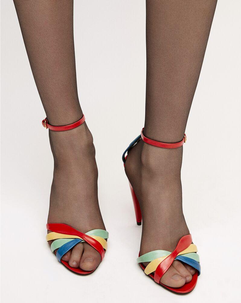 kristen sandalen aus glattleder