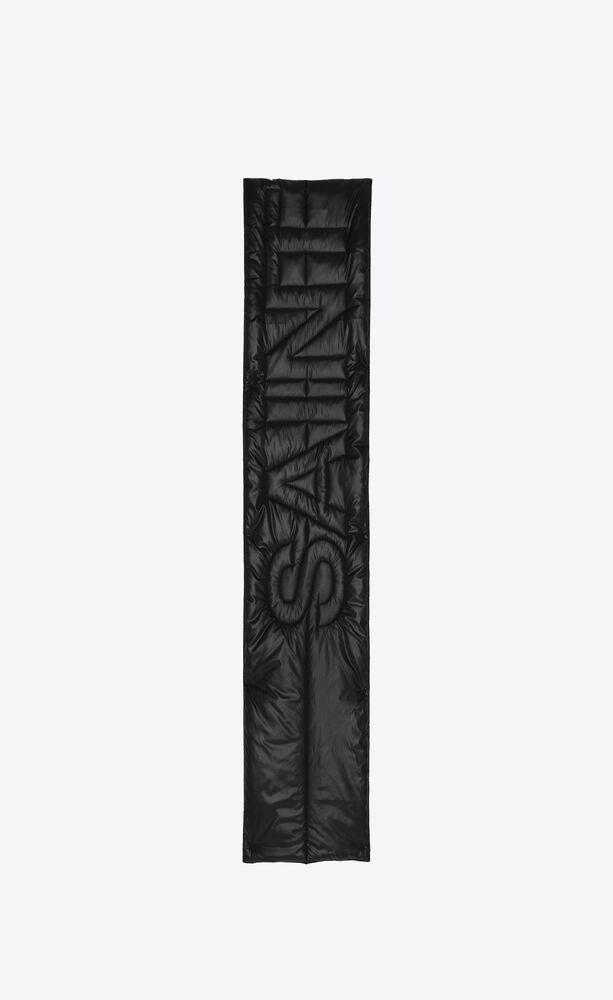 signature saint laurent puffer scarf in nylon