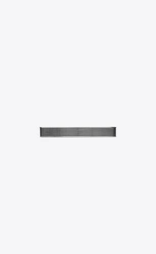 striped cuff bracelet in metal