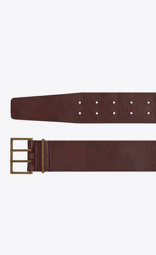 double-pin square belt in smooth leather