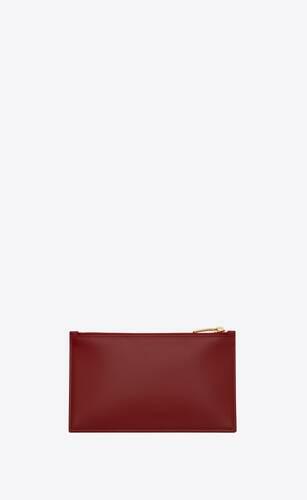 saint laurent paris small pouch in matte leather