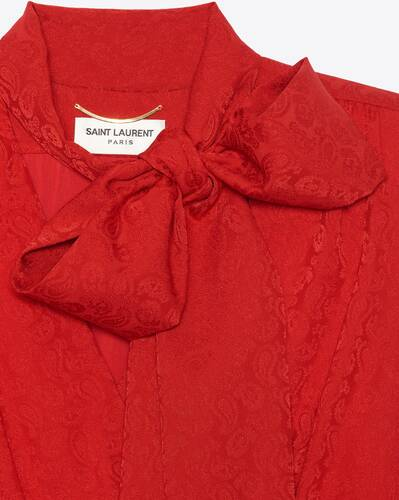 wickelkleid mit lavallière-ausschnitt aus seiden-kaschmir-jacquard