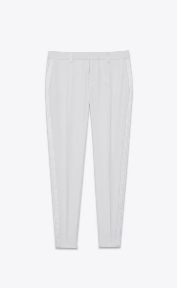 pantalon de smoking en grain de poudre saint laurent