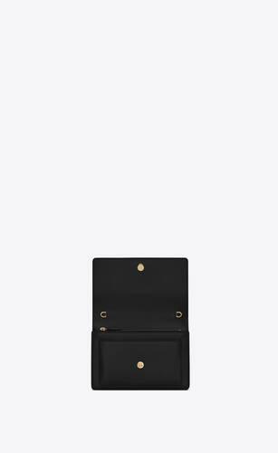 sunset chain wallet en cuir lisse