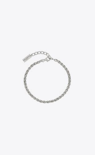 wheat chain bracelet in metal
