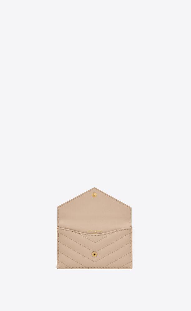 porta carte monogram fragments con patta in pelle goffrata grain de poudre trapuntata