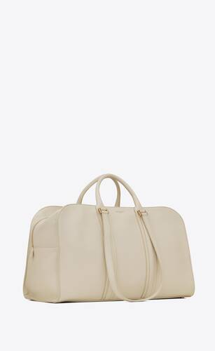 commuter duffle bag in smooth leather