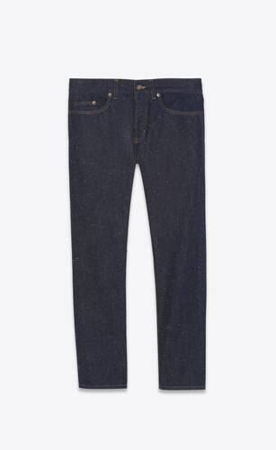 etienne pants in speckled dark stonewash denim