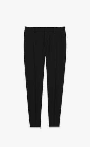 skinny pants in saint laurent gabardine