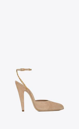 venus chain slingback pumps in suede