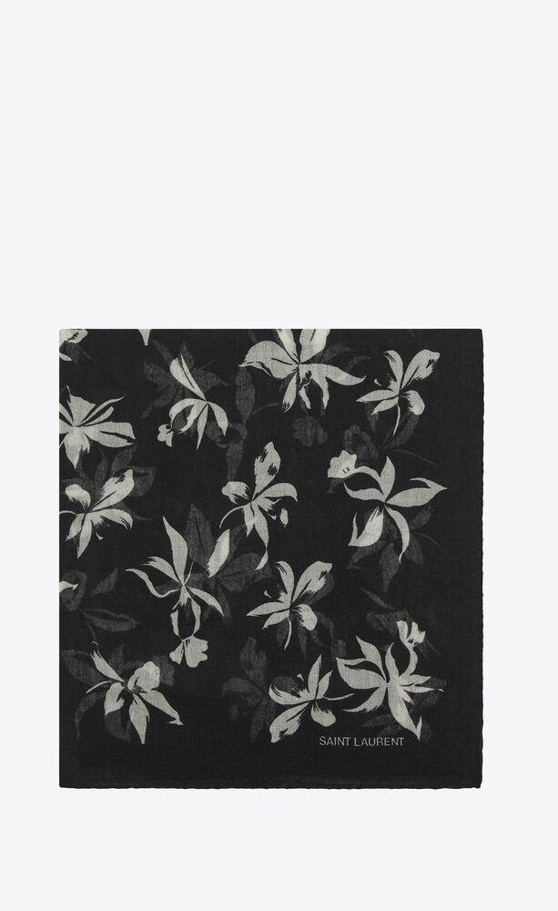 sciarpa quadrata in étamine di lana orchidea selvatica