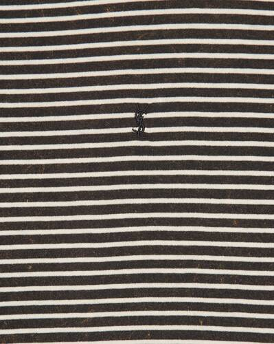 tie-dye striped monogram t-shirt in jersey
