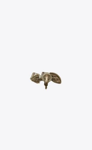 smoking triple-crystal clip-on ear jewel in metal