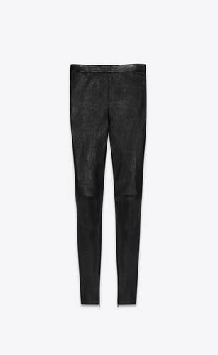 high-rise stretch lambskin leggings