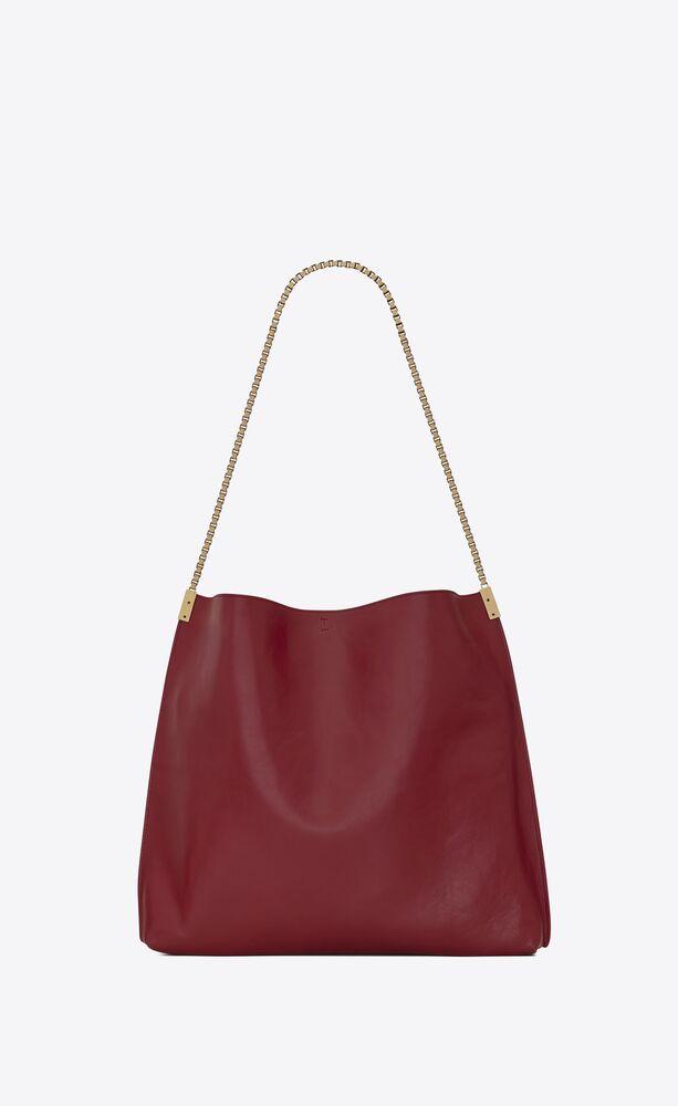 suzanne mittelgroße hobo-bag aus glattleder