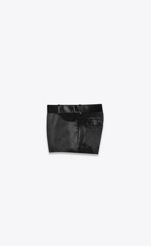 satin mini shorts