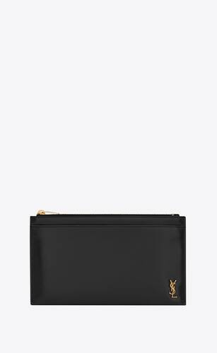 tiny monogram bill pouch in shiny leather