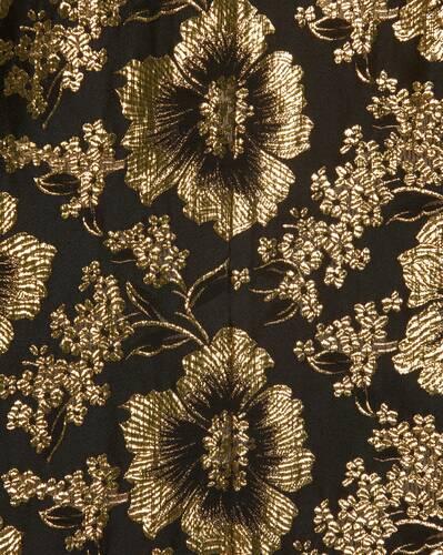 pajama shirt in lotus lamé silk jacquard