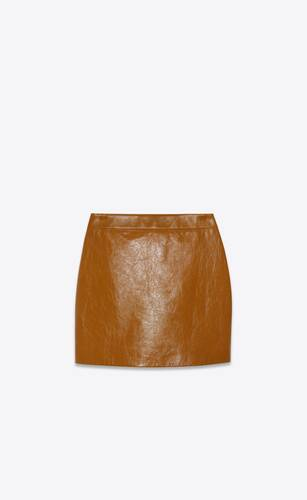 mini skirt in shiny calfskin