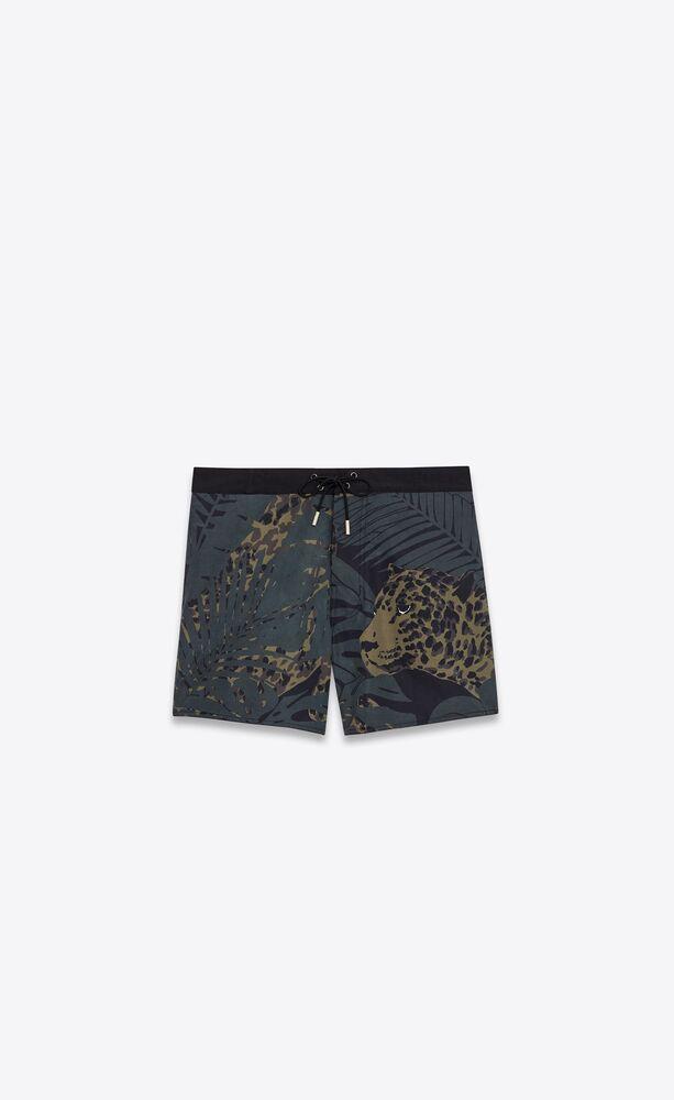 nocturnal leopard swim trunks in polyamide