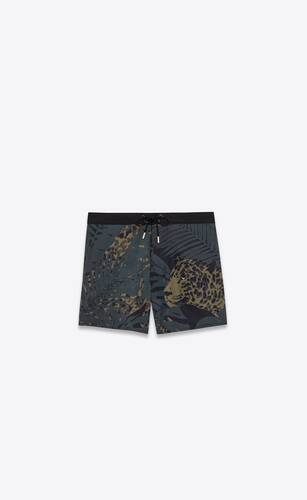 nocturnal leopard swim trunks in polyamide