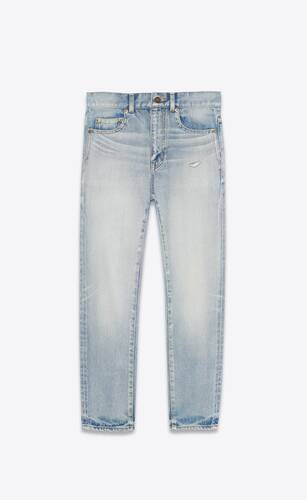 carrot-fit jeans in light fall blue denim
