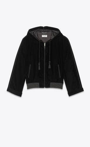 velvet djellaba hooded teddy jacket with tassels