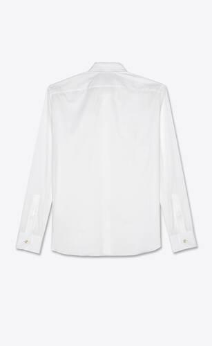 shirt in striped cotton piqué