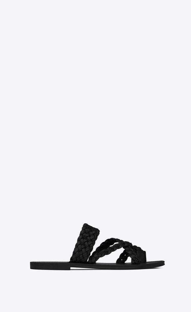 sandalias neil de piel trenzada