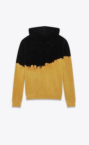 burnt dip-dye velvet hoodie