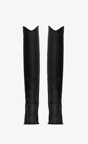 kate high boots in tejus-embossed and smooth leather