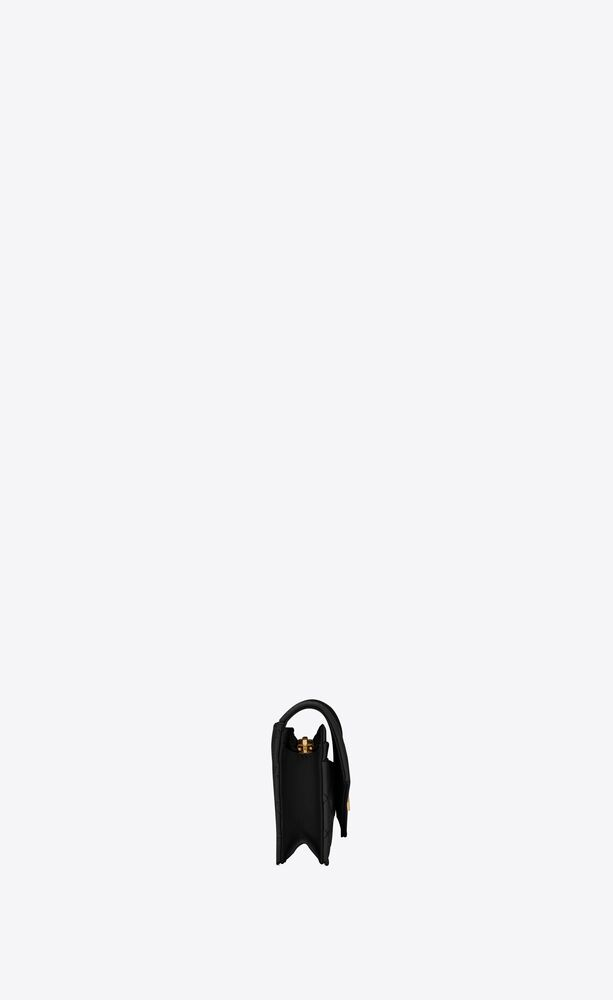 monogram card case in mix matelassé grain de poudre embossed leather