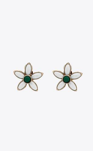 tiny flower earrings in metal
