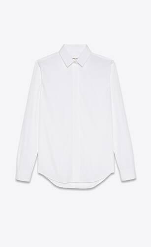 shirt in cotton poplin