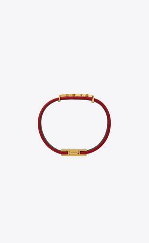 opyum bracelet in patent leather and metal