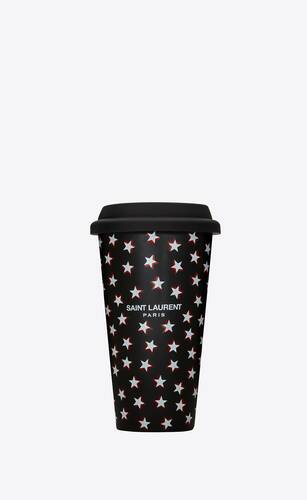 star print coffee mug in ceramic