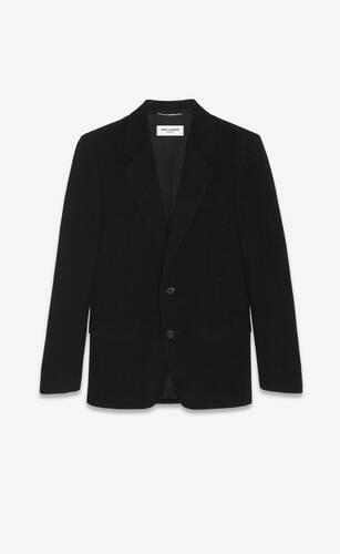 veste à boutonnage simple en velours côtelé