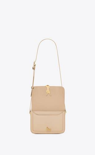 solferino small satchel en cuir box saint laurent