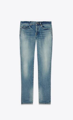low-waisted skinny jeans in bright blue comfort stretch denim